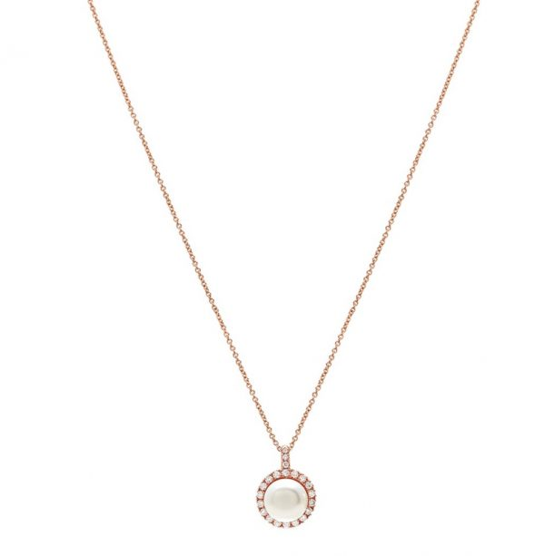 PLM307R1B collana Happy oro rosa, perla bianca e diamanti